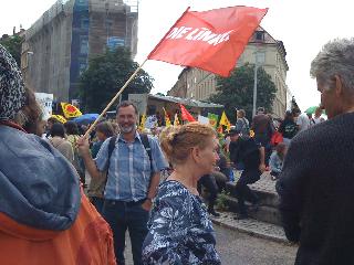 Johannes Müllerschön auf der Demo in Stuttgart