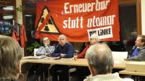 Müllerschön, Zdebel, Bohn: LINKE in Heilbronn über Atommmüll-Probleme.
