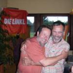 Hasso Ehinger  und Johannes Müllerschön  freuen sich über die beiden neu gewonnnen Kommunalmandate für DIE LINKE.
