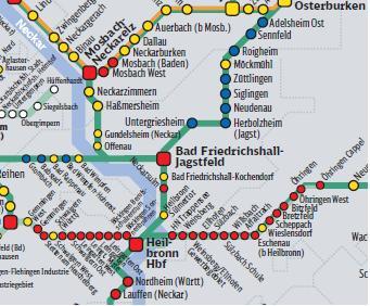 Schienenverkehr im LK HN