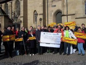 Müllerschön während S21-Protesten in Heilbronn.
