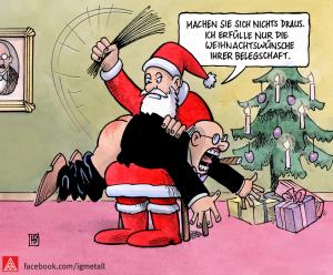Weihnachtswünsche Belegschaft