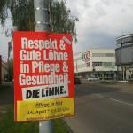 Die Plakate zur Veranstaltung hängen schon.