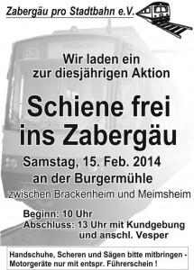 Einladungsplakat zur Aktion 2014