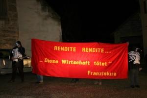 """Protestaktion vor dem Galaabend der """"Weltmarktführer"""""""