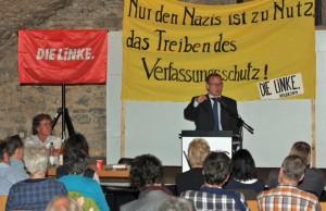 7.5.2013 Bodo Ramelow im Deutschhofkeller der Heilbronner Volkshochschule. (Bild: Archiv LINKE/HN)