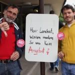 Die Kreisräte der LINKEN bei der Verdi-Kundgebung vor dem Landratsamt am 19.5.