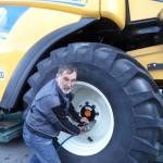 Müllerschön ist gelernter Landmaschinenmechaniker,  Betriebsratsvorsitzender von CNHi  in HN und linker Kommunlpolitiker(Foto: lf)