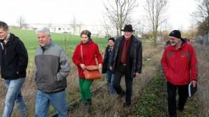 Streckenbegehung bei Frauenzimmern mit Freunden der Zabergäubahn