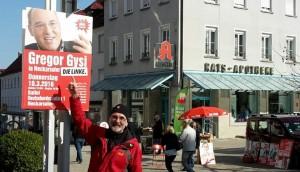 Müllerschön auf dem Marktplatz in Neckarsulm.