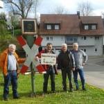Begehung der Zabergäubahn über 8 km von Lauffen bis Brackenheim am 15.4.16 (Foto Peter Kochert)